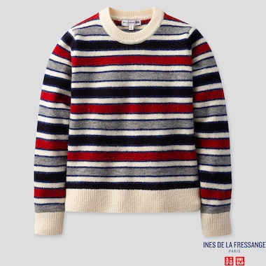 WOMEN INES MULTICOLOURED STRIPED CREW NECK JUMPER