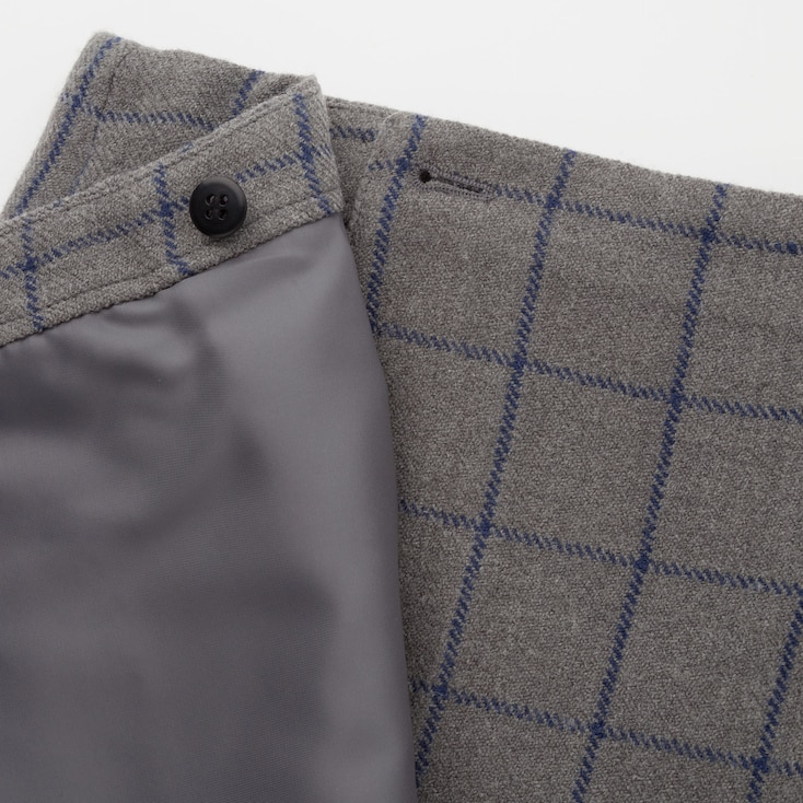 Women Wool-Blend Fringe Mini Skirt (Ines De La Fressange), Black, Large