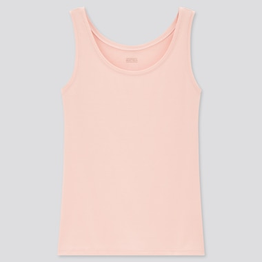 Women Heattech Sleeveless Top, Pink, Medium