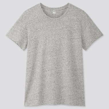 Women Supima© Cotton Crew Neck Short-Sleeve T-Shirt, Gray, Medium