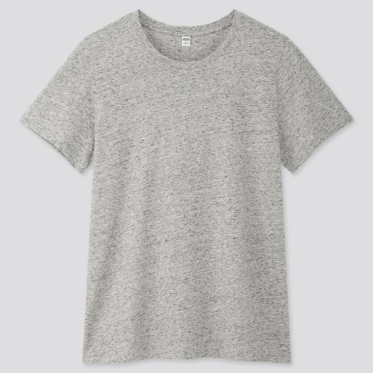 Women Supima® Cotton Crew Neck Short-Sleeve T-Shirt, Gray, Large
