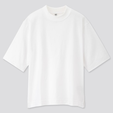 Women Cotton Relaxed Boxy Crew Neck Short-Sleeve T-Shirt, White, Medium