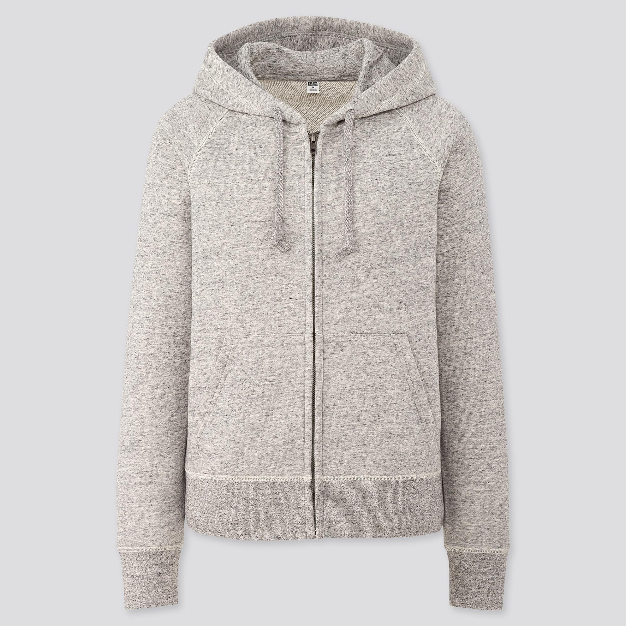 women sweat long-sleeve full-zip hoodie