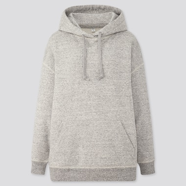 Women Oversized Long-Sleeve Pullover Hoodie Sweatshirt, Gray, Medium
