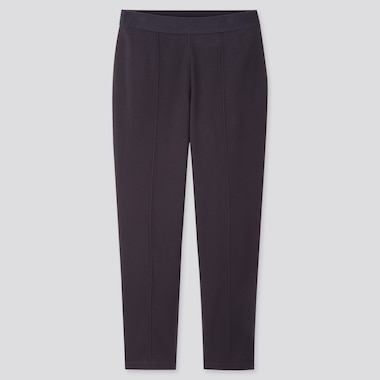 Women Ponte Slim Pants, Navy, Medium