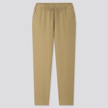 Women Denim Jersey Tapered Pants, Olive, Medium