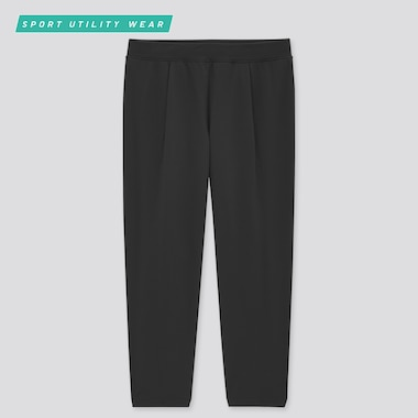 Women Ultra Stretch Active Cropped Pants, Black, Medium