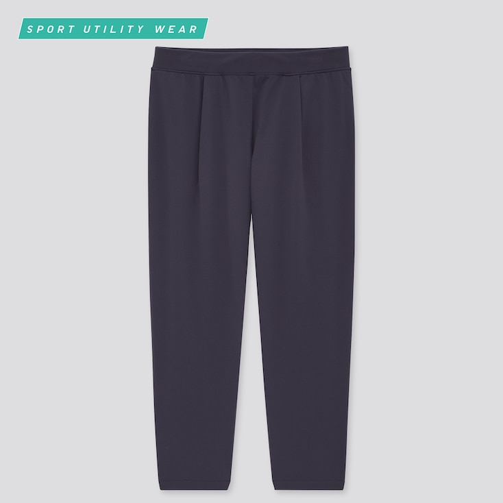 Women Ultra Stretch Active Cropped Pants, Navy, Large