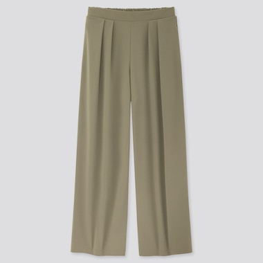 Women Crepe Jersey Wide Leg Trousers