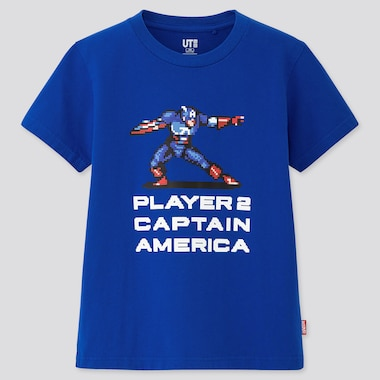 Kids Marvel Retro Gaming Ut (Short-Sleeve Ut Graphic T-Shirt), Blue, Medium