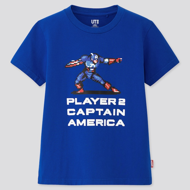 Kids Marvel Retro Gaming Ut (Short-Sleeve Ut Graphic T-Shirt), Blue, Large