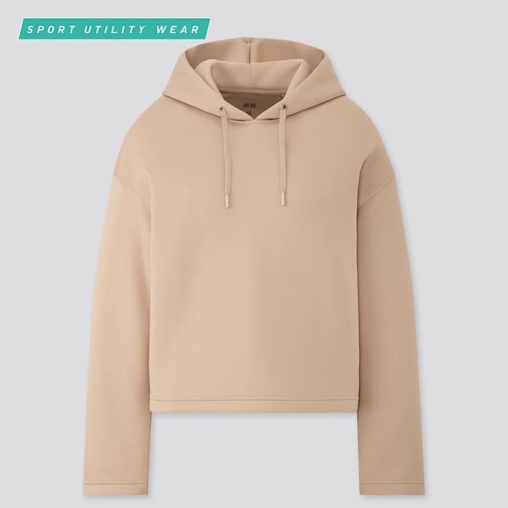 Women Long-Sleeve Dry Soft Hooded Sweatshirt, Natural, Large