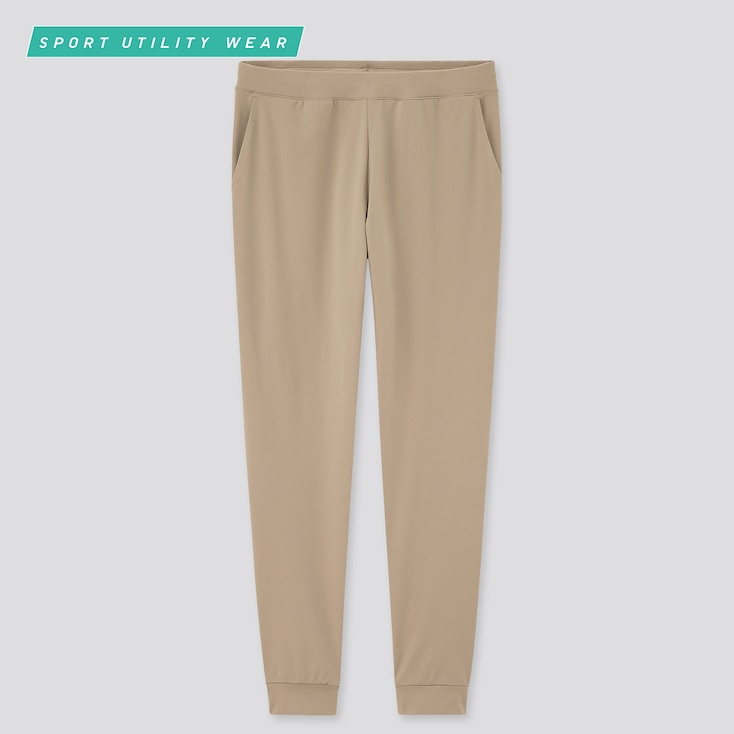 Women Ultra Stretch Active Ankle-Length Pants, Beige, Large