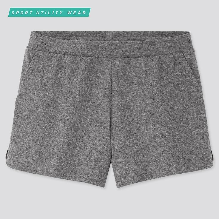 Women Ultra Stretch Active Shorts, Dark Gray, Large
