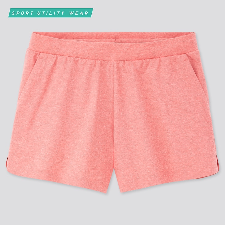 Women Ultra Stretch Active Shorts, Pink, Large