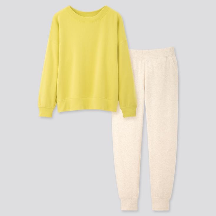 Women Ultra Stretch Long-Sleeve Set, Yellow, Large