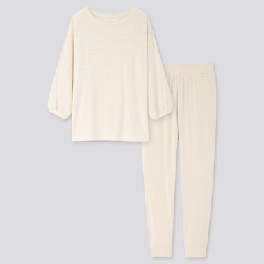 Women Ultra Stretch Soft 3/4 Sleeve Set, Natural, Medium