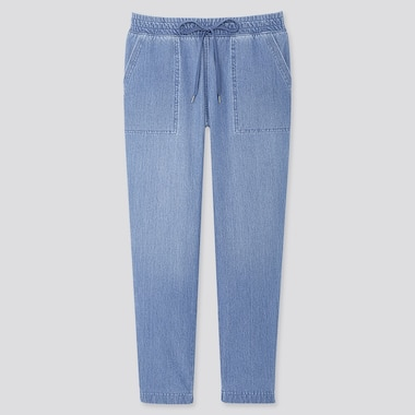 WOMEN DENIM JERSEY TROUSERS