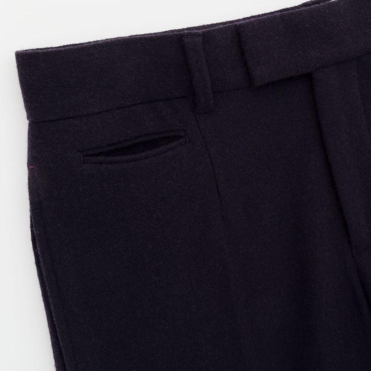 Women Soft Tweed Wide-Leg Pants (Ines De La Fressange), Olive, Large