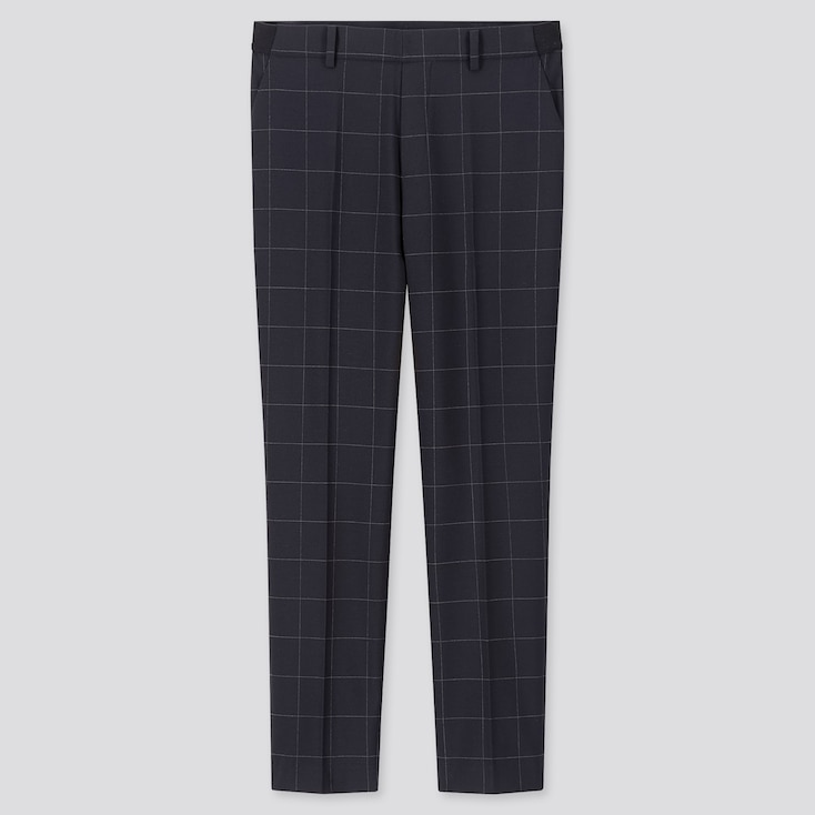 "Women Ezy Windowpane Ankle Length Pants (Tall 30"") (Online Exclusive) by Uniqlo"