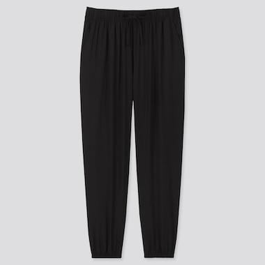 Women Drape Jogger Pants, Black, Medium