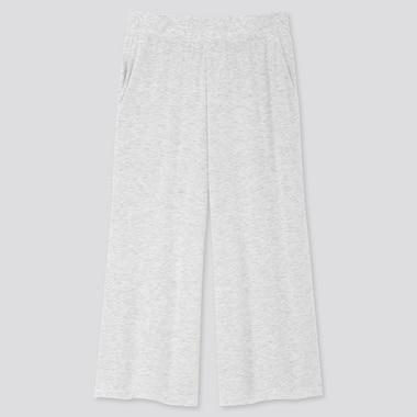 Women Ultra Stretch Soft Cropped Pants, Gray, Medium