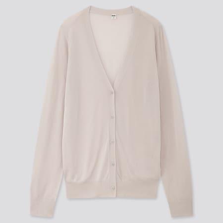 Damen leichte Strickjacke mit V-Ausschnitt