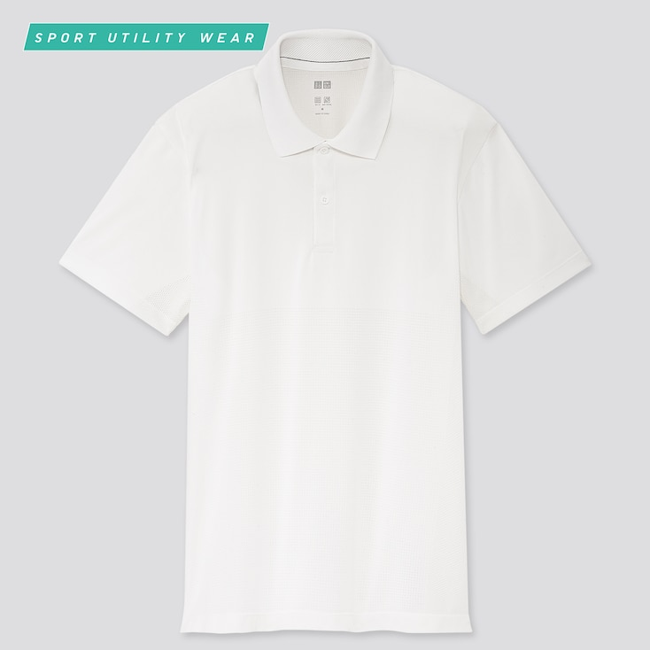 Men Dry-Ex Short-Sleeve Polo Shirt, White, Large