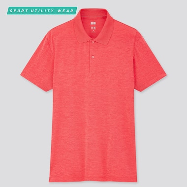 Men Dry-Ex Short-Sleeve Polo Shirt, Pink, Medium