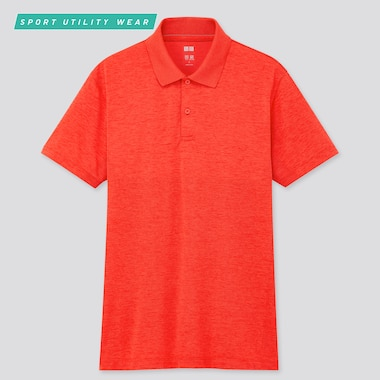 Men Dry-Ex Short-Sleeve Polo Shirt, Red, Medium
