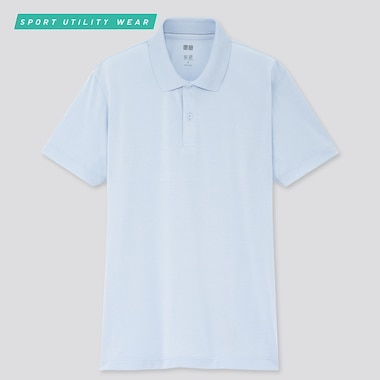 Men Dry-Ex Short-Sleeve Polo Shirt, Light Blue, Medium