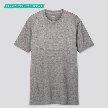 Men Dry-Ex Crew Neck Short-Sleeve T-Shirt, Gray, Medium