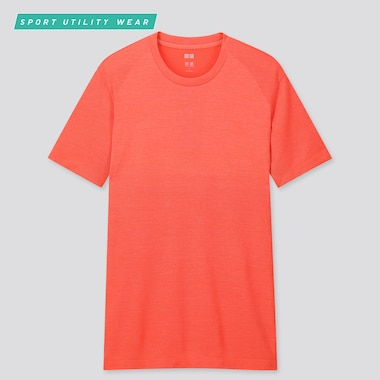 Men Dry-Ex Crew Neck Short-Sleeve T-Shirt, Red, Medium
