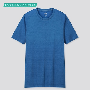 Men Dry-Ex Crew Neck Short-Sleeve T-Shirt, Blue, Medium