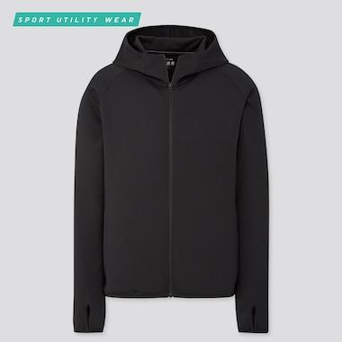 Men Dry-Ex Uv Protection Full-Zip Hoodie, Black, Medium