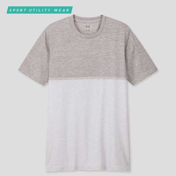 Men Dry-Ex Crew Neck Short-Sleeve T-Shirt, Light Gray, Large
