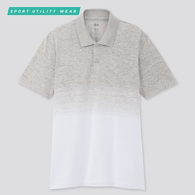 Men Dry-Ex Short-Sleeve Polo Shirt, Light Gray, Medium