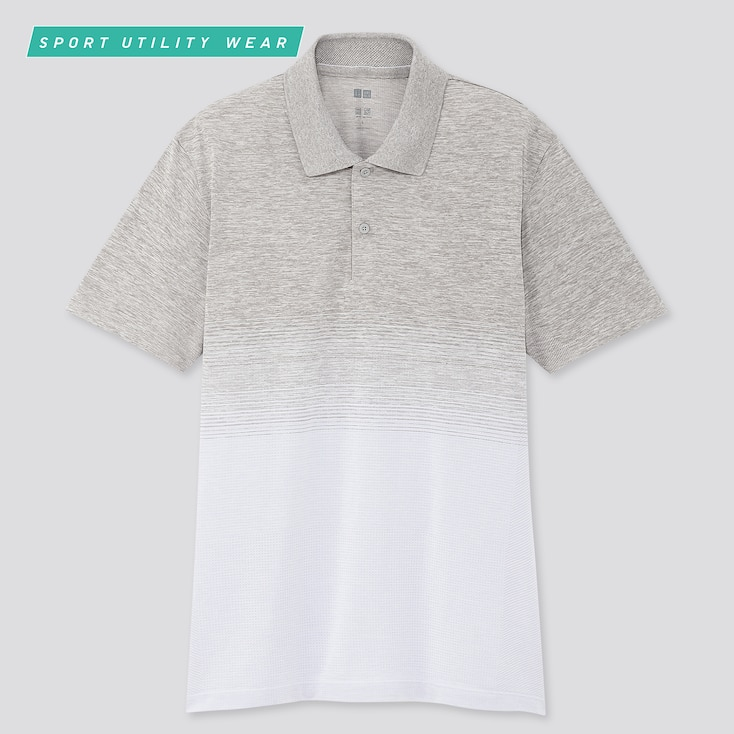 Men Dry-Ex Short-Sleeve Polo Shirt, Light Gray, Large