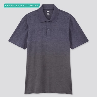 Men Dry-Ex Short-Sleeve Polo Shirt, Navy, Medium