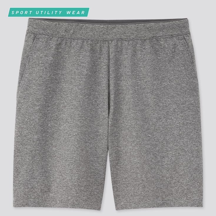 Men Dry-Ex Ultra Stretch Active Shorts, Gray, Large