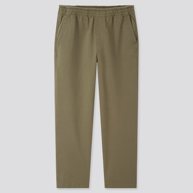 Men Washed Jersey Ankle-Length Pants, Olive, Medium