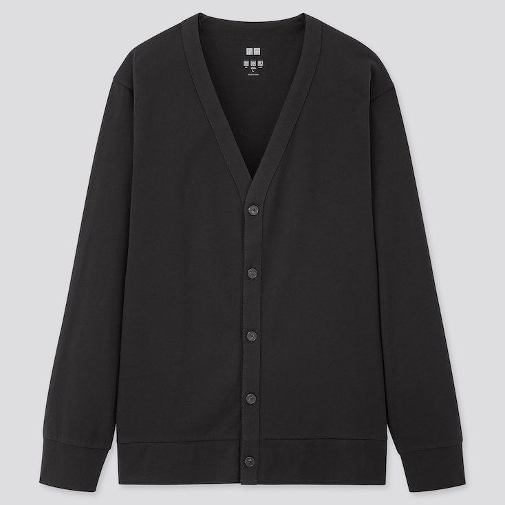 Men Airism Uv Protection Cardigan, Black, Large