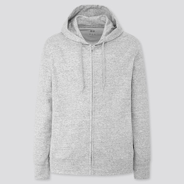Men Airism Uv Protection Full-Zip Hoodie, Gray, Medium
