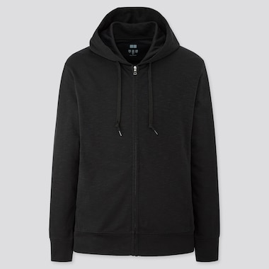 Men Airism Uv Cut Full-Zip Hoodie, Black, Medium