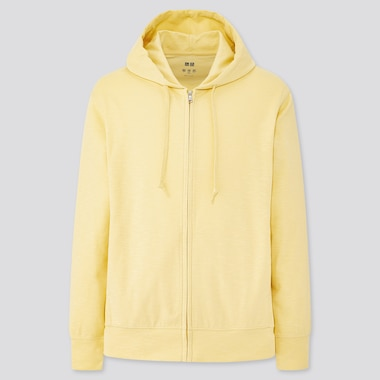 Men Airism Uv Protection Full-Zip Hoodie, Yellow, Medium