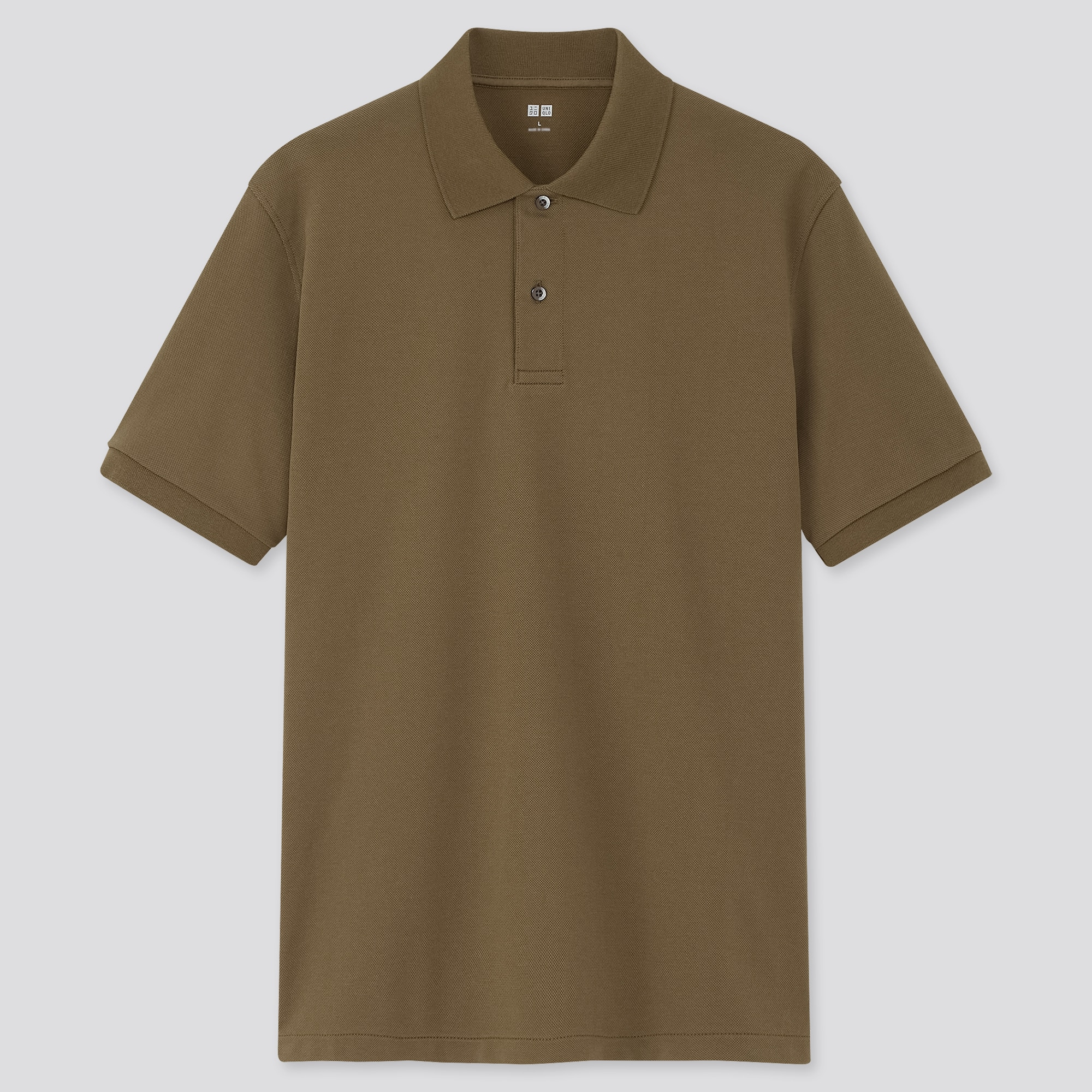 Uniqlo men dry pique short-sleeve polo shirt