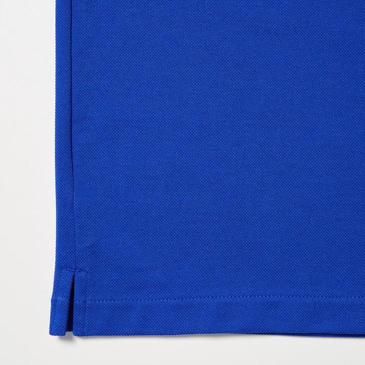 Dry Pique Short-Sleeve Polo Shirt, Dark Gray, Large