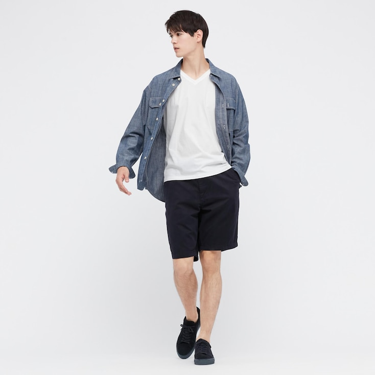 Men Supima© Cotton V-Neck Short-Sleeve T-Shirt, White, Large