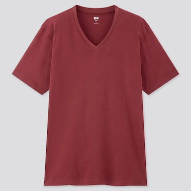 Men Supima© Cotton V-Neck Short-Sleeve T-Shirt, Wine, Medium