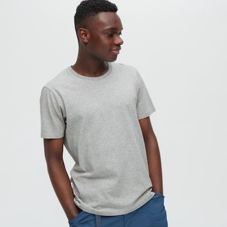Men 100% Supima Cotton Crew Neck Short Sleeved T-Shirt